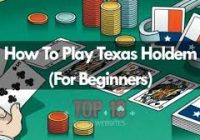How to Play Texas Holdem Poker